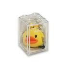 積木盒造型軟膠零錢包-小鴨