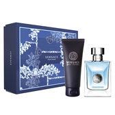 Versace Pour Homme 凡賽斯經典男性淡香水禮盒二件組(香水100ml+洗沐浴精150ml)【5295我愛購物】
