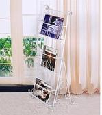 書架書櫃收納櫃雜志架歐式鐵藝書報架客廳簡易書架報刊架資料架書刊架展示圖書架SP免運