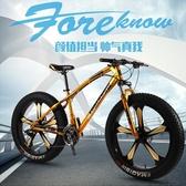 自行車-鋒狐山地越野變速雪地沙灘自行車壹體輪成人寬大輪胎男女學生單車 完美情人館YXS