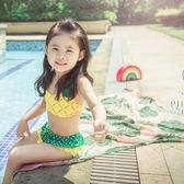 兒童泳衣女可愛中小女童分體比基尼泳裝公主游泳衣【步行者戶外生活館】