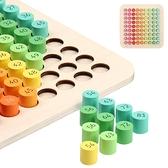 益智玩具 木制九九乘法表 乘法盤 算術板 乘法口訣 早教兒童玩具-JoyBaby