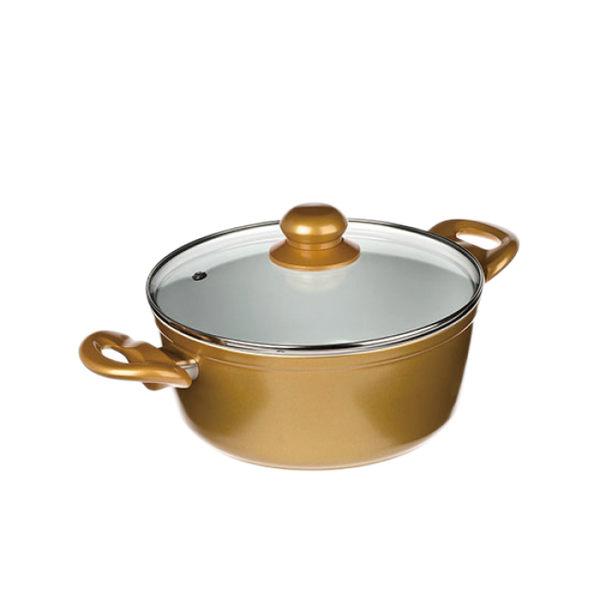 德國CERAFIT陶瓷奈米不沾鍋 - 摩登金湯鍋-22cm