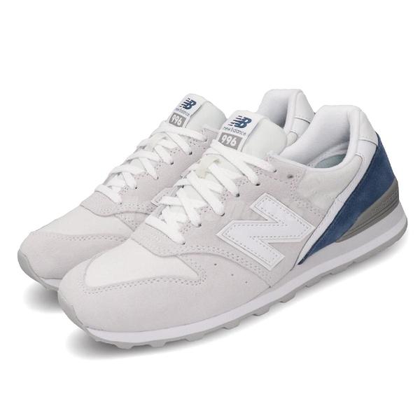 New Balance 慢跑鞋 NB 996 灰 藍 女鞋 運動鞋 寬楦 麂皮 【PUMP306】 WL996BBD