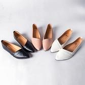 MIUSTAR 簡約經典不敗款!素面微尖頭軟皮革平底包鞋(共3色,23-25)【NJ0546ZP】預購