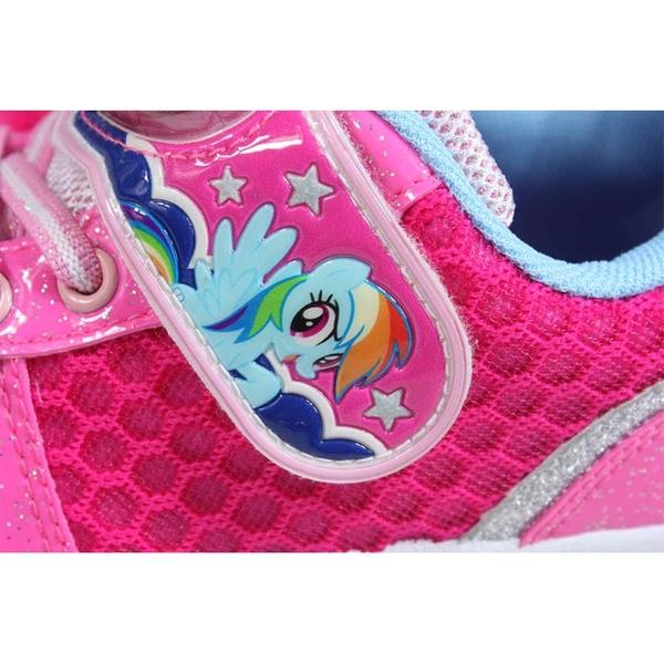 my little pony 彩虹小馬 運動鞋 電燈鞋 魔鬼氈 桃紅色 中童 童鞋 MP6008 no869