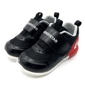 《7+1童鞋》寶寶 日本月星 MOONSTAR 透氣網布 機能鞋 運動鞋 學步鞋 D434 黑色