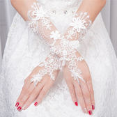 新娘婚紗手套蕾絲白色結婚手套婚慶婚禮手套長款水溶花禮服手套促銷大降價!