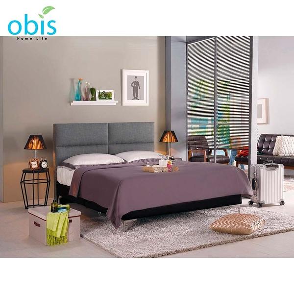 OB003-安蒂6尺雙人床(灰色布)(19CM/658-1)【DD House】