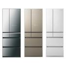 【南紡購物中心】【Panasonic 國際牌】 600公升六門變頻冰箱NR-F606HX (三色)