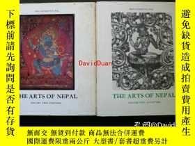 二手書博民逛書店The罕見arts of Nepal ; part1 sculpture , part2 Painting <Ha