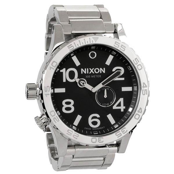 NIXON The 51-30 TIDE 超越潛能運動腕錶(鋼帶-亮銀黑)