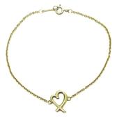 Tiffany & Co蒂芬妮 Paloma Picasso® Loving Heart18黃K金手鏈【二手名牌BRAND OFF】