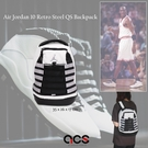Nike 後背包 Jordan Backpack AJ10 10代 白 黑 銀 男女款 小包 雙肩背 皮革【ACS】 JD2123025GS-001