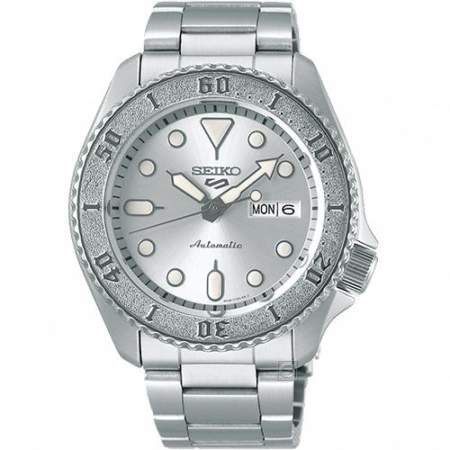 SEIKO 精工 5 Sports 銀色特別版機械錶(4R36-08E0S)SRPE71K1-銀色/42.5mm