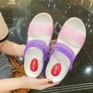 涼鞋女新款外穿時尚網紅ins洞洞鞋韓版學生防滑厚底家用拖鞋