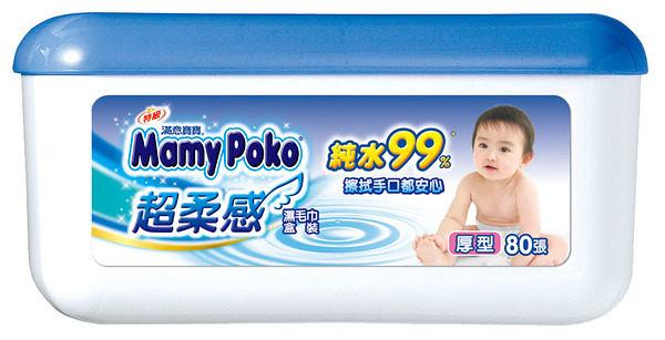 滿意寶寶 超柔感純水濕巾厚型 80抽*8盒/箱 #箱購優惠【躍獅】