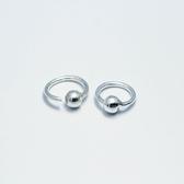 925純銀耳環(耳針式)-簡約百搭圓圈情人節生日禮物女飾品73dr107【時尚巴黎】