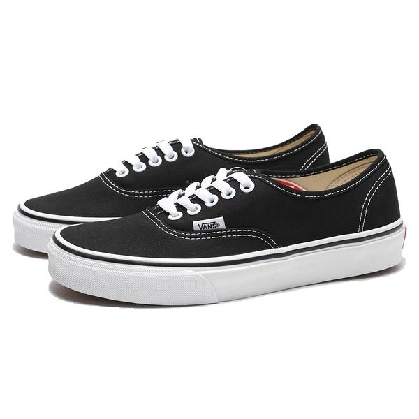 VANS 休閒鞋 AUTHENTIC 黑 白 帆布 經典款 板鞋 男女(布魯克林) VN000EE3BLK