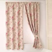 窗簾 玫瑰花園節能遮光窗簾 寬200X高165cm 半腰窗簾 落地窗簾 客製化 訂製窗簾 夏季遮光窗簾