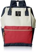 日本 anello  日本新款 帆布材質  大口包  AT-B2521 專櫃正品 加大版 素色款【RH shop】日本代購