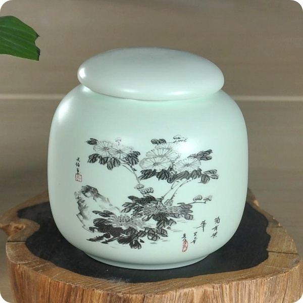亞光釉陶瓷茶葉罐(款式四)