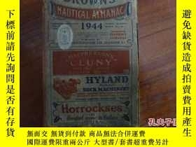二手書博民逛書店BROWN S罕見NAUTICAL ALMANAC 1944Y1