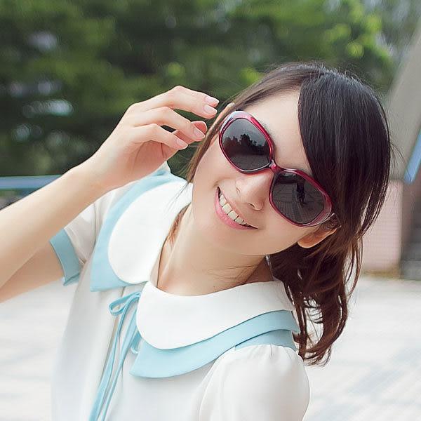 韓系偏光太陽眼鏡 小花印紋包覆框 街頭必備時尚單品 抗UV400 防眩光減輕疲勞