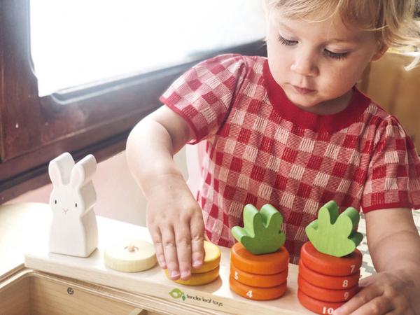 【美國Tender Leaf Toys】數數蘿蔔疊疊樂(積木益智遊戲)
