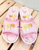 【震撼精品百貨】Little Twin Stars KiKi&LaLa 雙子星小天使~台灣製正版兒童拖鞋-粉閃亮(17~23號)