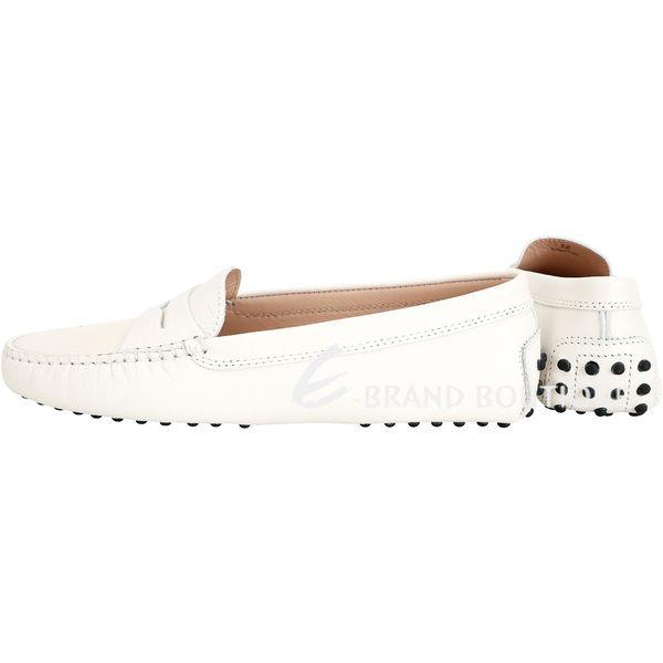 TOD'S Gommino 防刮牛皮豆豆休閒鞋(女鞋/優雅白) 1840020-20
