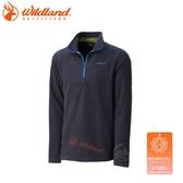 【Wildland 荒野 男 遠紅外線PILE保暖上衣《深灰》】0A32502-93/刷毛保暖/彈性透氣/防寒上衣