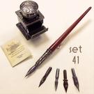 義大利 Bortoletti set41 沾水筆+黑色墨水+五種筆尖 組合 21501168457943 / 組