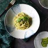 陶瓷碗 伊亞創意歐式餐具 家用9英寸大號淺口碗西餐意面碗沙拉碗【onecity】