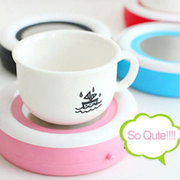 【BlueCat】USB彩虹天堂熱飲咖啡專用保溫碟 保溫座