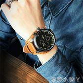 手錶男士大錶盤嘻哈皮帶錶大學生潮男時尚潮流休閒時裝錶男錶 igo蘿莉小腳ㄚ