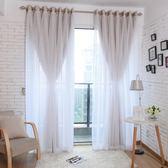 限定款遮光成品窗簾窗紗組 寬400x高270公分 現代蕾絲簡約窗簾窗紗組合jj