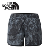 【The North Face 女 DWR印花透氣運動短褲《黑》】2RH5/快乾短褲/慢跑褲/防潑水