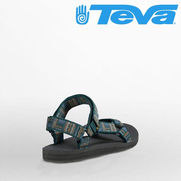 TEVA 男款 ORIGINAL UNIVERSAL 復古織帶涼鞋- 印加綠灰 4006IPN