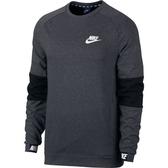 Nike AS M NSW AV15 CRW FLC [861745-071] 男 休閒 長袖 上衣 純棉 舒適 灰