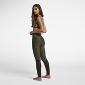 Hurley HURLEY SURF CHEETAH MESH LEGGING 長褲-LEGGING-綠(女)