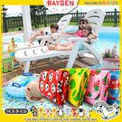 可愛卡通防水手提式折疊超大號野餐墊/沙灘墊
