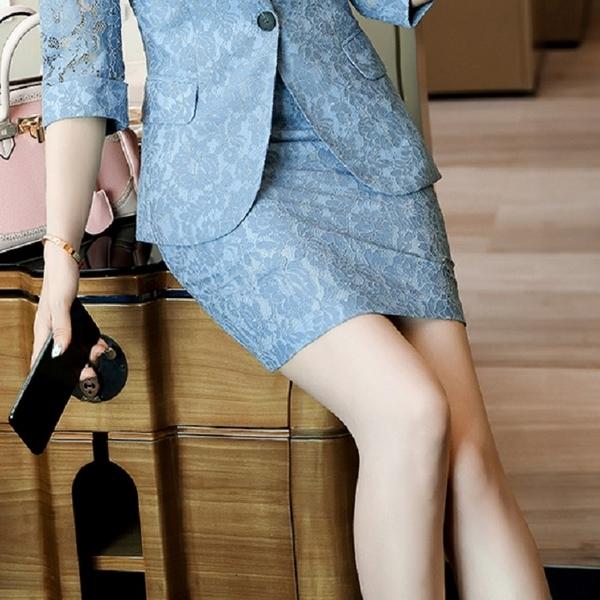 復古花紋蕾絲短裙[21X037-PF]美之札