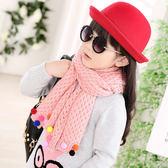 兒童圍巾  美人魚款圍巾圍脖粉紅色