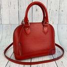 BRAND楓月 LOUIS VUITTON LV M41160 紅色 EPI 水波紋 ALMA BB 艾瑪包 斜背包