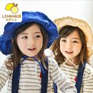 Lemonkid 檸檬寶寶 日系百搭麻料繫帶不規則大帽沿兒童防曬漁夫帽盆帽遮陽帽 女款 27012