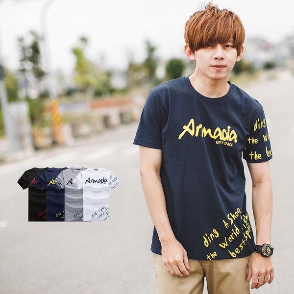 T恤 Armada手寫文字短T【NB0790J】