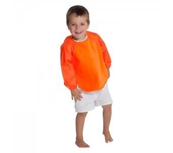 紐西蘭 Mum 2 Mum 神奇長袖吸水圍兜-橘 (6M~18M) 吃飯衣 口水衣 防水衣