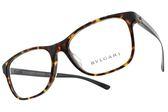 BVLGARI 偏光太陽眼鏡 BG3036F 504 (琥珀棕-黑) 潮流格紋款 平光鏡框 # 金橘眼鏡