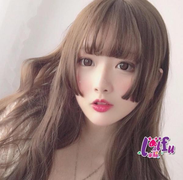 草魚妹-W113假髮片日本公主流海側短髮瀏海假髮,1片售價168元